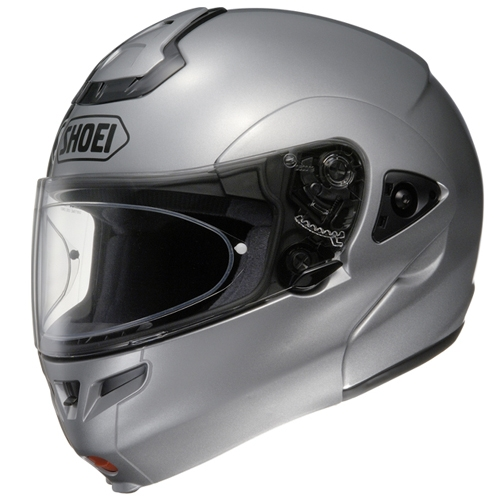 Shoei-Multitec-Klapphelm-hell-silber