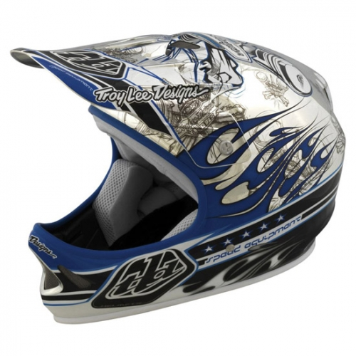 Troy-Lee-Design-Downhill-Helm-D2-Piston-chrome-blau